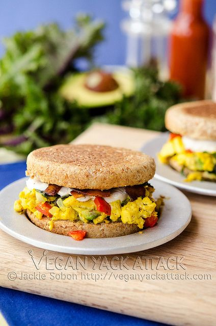 Tofu Scramble Breakfast Sandwiches—eat your heart out, Egg McMuffins.