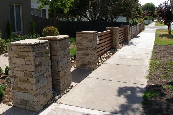 Stone Fence Pillars : Best images about stone walls pillars and columns on