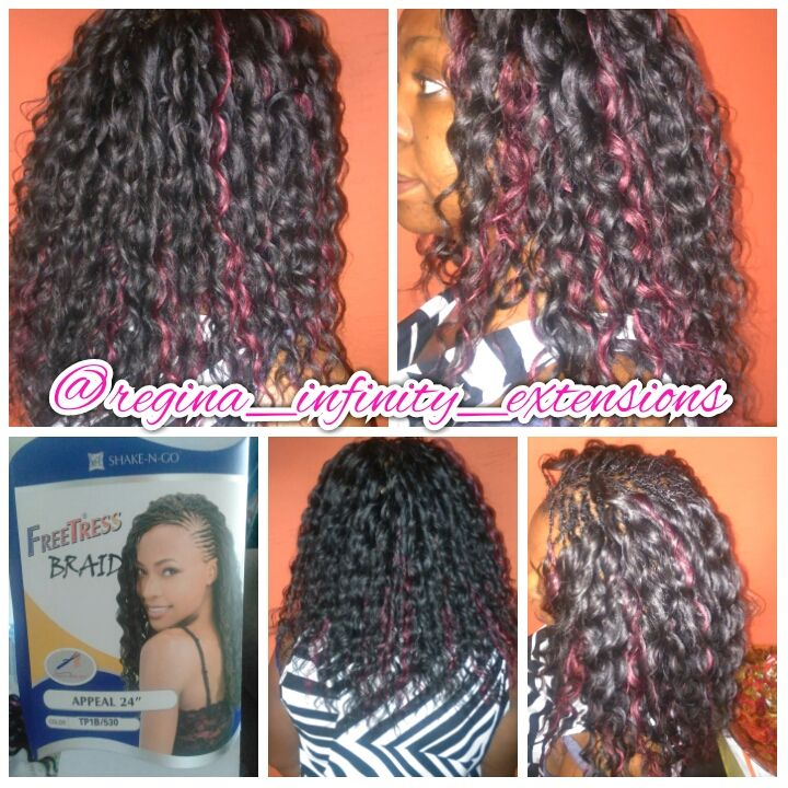 Crochet Hair Dominican Blowout : Freetress Braids/ Pick and drop braids