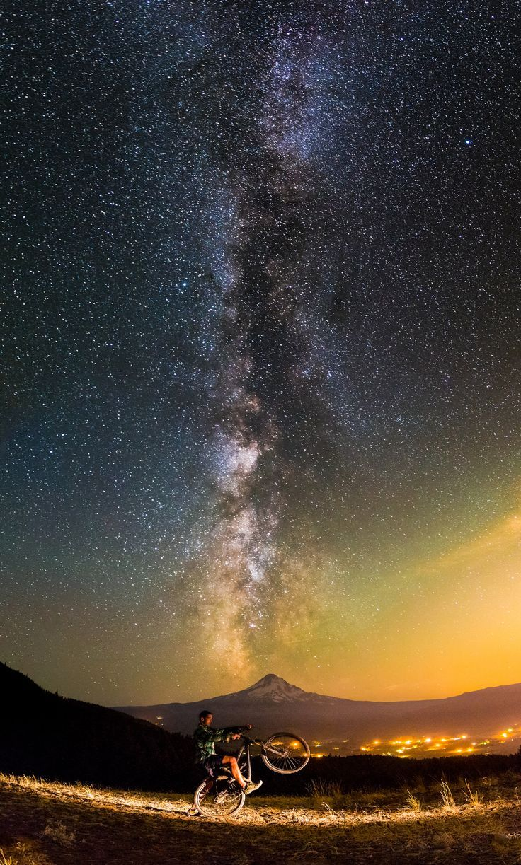 Milky Way, biking and Mt. Hood. Talk about Epic Adventures in Oregon! Click through to check out 19 more! / Zach Dischner