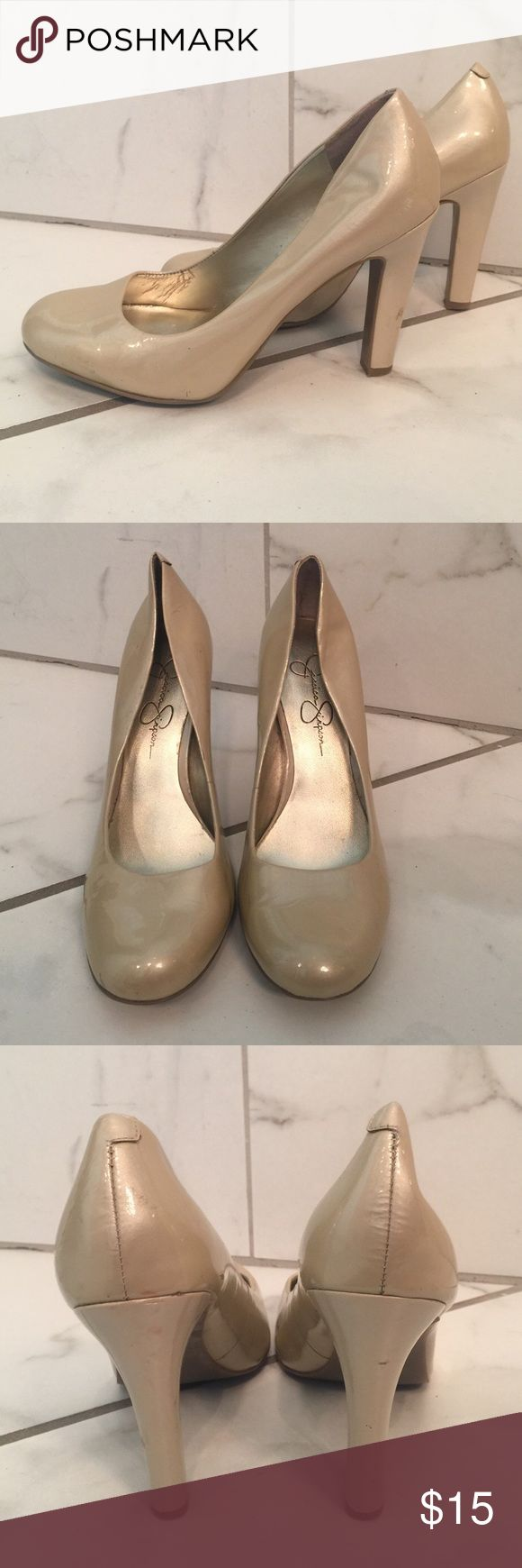 Jessica Simpson creme pumps Beautiful pearl color -- the perfect height to be stylish & comfortable Jessica Simpson Shoes Heels