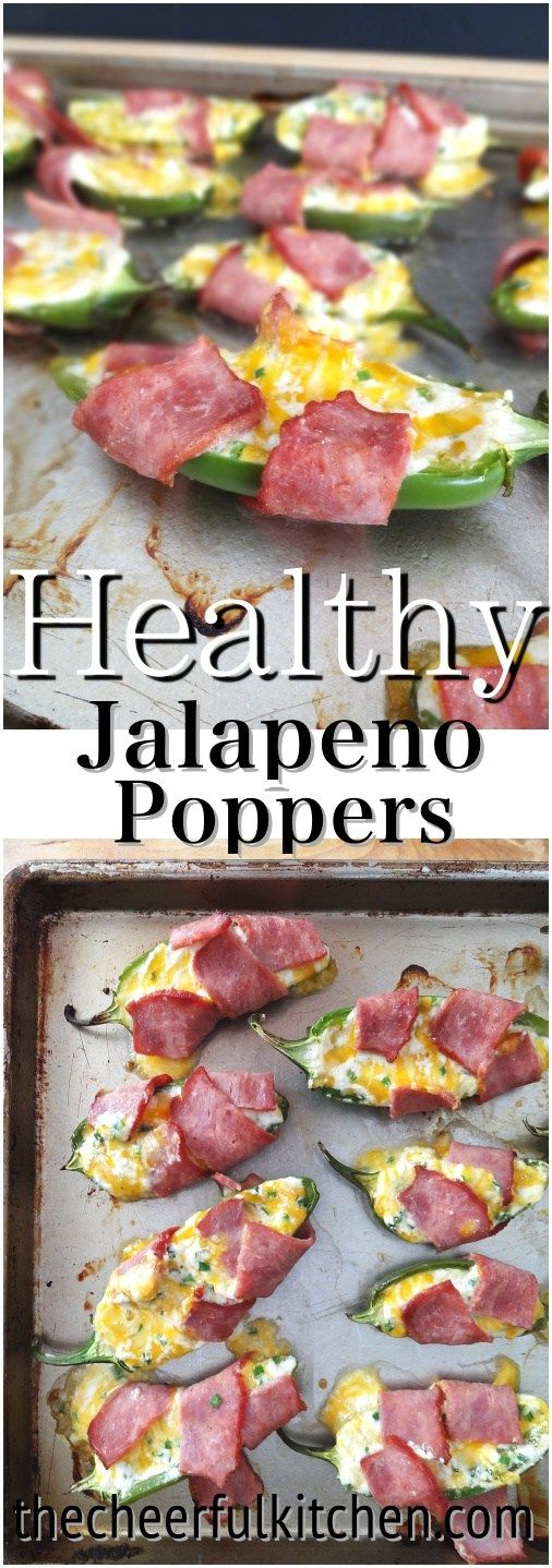 Healthy Turkey Bacon Wrapped Jalapeno Poppers! Super cheesy and better for you than the traditional popper. I dare you to try them!