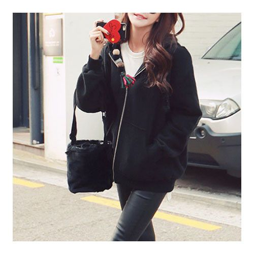 MAGZERO Everyday Full- Zip Fleece Hoodie Jacket WJPP000CRPI