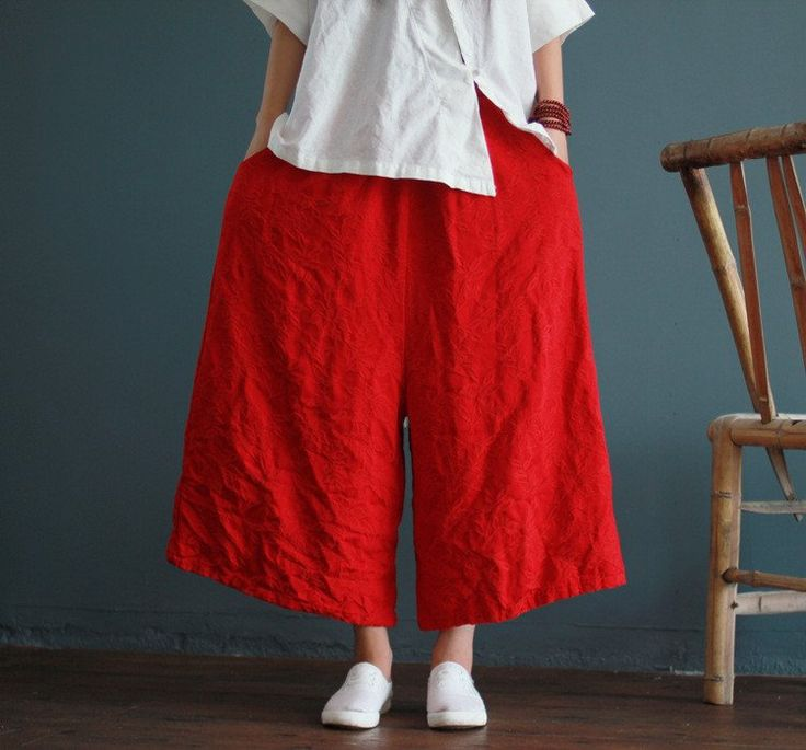 Pants - Red Parachutes – fundipperss