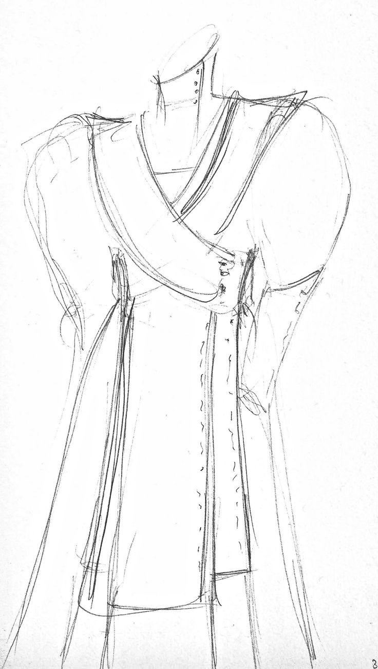 Schets kleding, schetsen wordt vaak gebruikt bij kleding ontwerpen