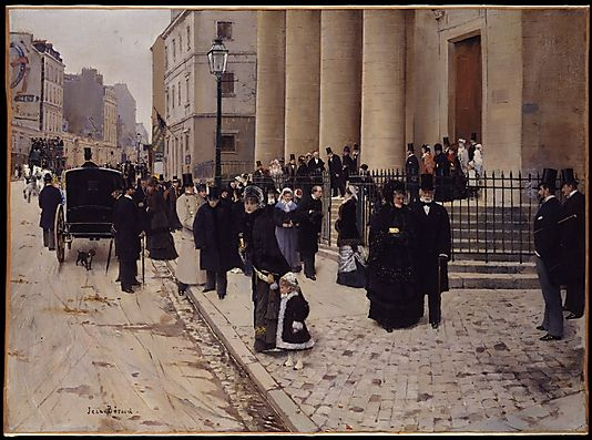 Jean Béraud (French, 1849–1936). Sunday at the Church of Saint-Philippe-du-Roule, Paris, 1877. The Metropolitan Museum of Art, New York. Gift of Mr. and Mrs. William B. Jaffe, 1955 (55.35) #paris