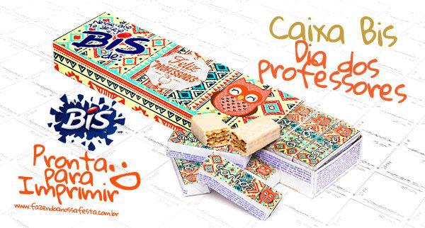 Escolha entre os 6 modelos de Caixa Bis Dia dos Professores Coruja e imprima de graça o molde, um presente super barato, personalizado e lindo, baixe a sua