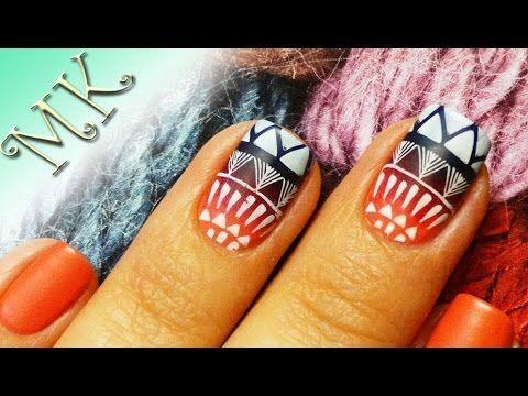 Матовый дизайн ногтей/Стемпинг/Градиент/Дизайн ногтей/Мастер класс/Этнич...