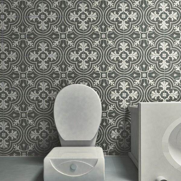 Somertile 7 75x7 75 Inch Twenties Classic Ceramic Floor And Wall Tile Case Of 25 Ceramics