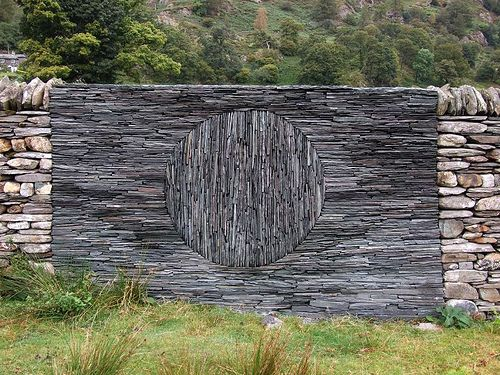 Going Up by RoystonVasey. andy goldsworthy stone wallby RoystonVasey and are of work created by Andy Goldsworthy at Tilberthwaite Touchstone Fold. -