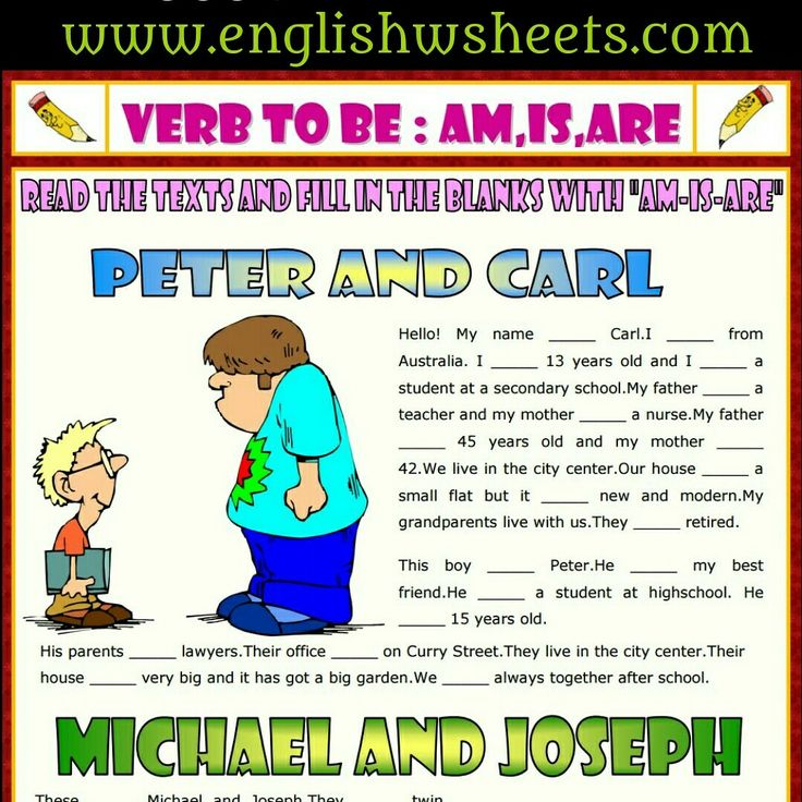 Verb To Be Esl Printable Gap Fill Exercise Worksheet For Kids #verbtobe #Verbs #tobe #esl #printable #Gap #fill #exercise #kids #forkids #grammar #learnenglish #teachenglish #Worksheet #efl #tefl #esol #tesol #englishwsheets