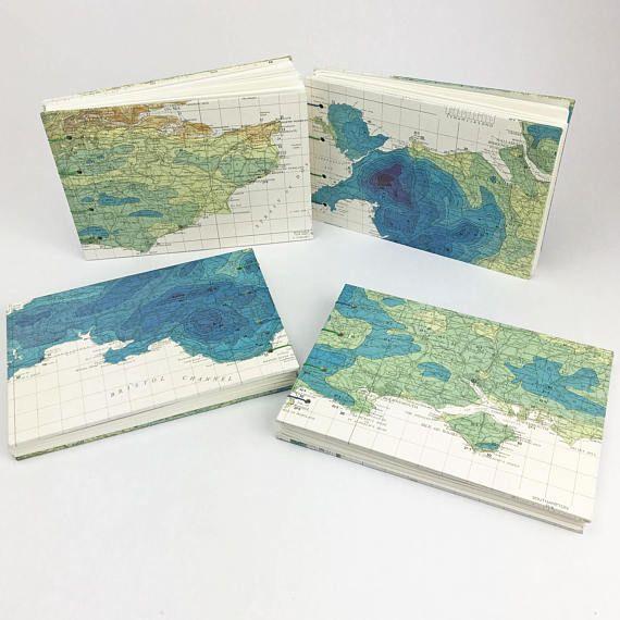 Rainfall Map Travel Journal English weather notebook Artist