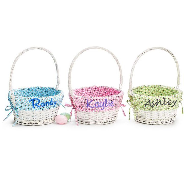 monogrammed baskets with liners
