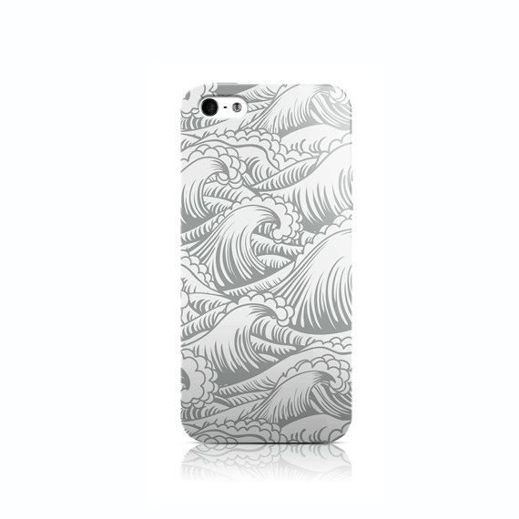 Grey Waves iPhone 4 case iPhone 5 case iPhone 5c by VDirectCases