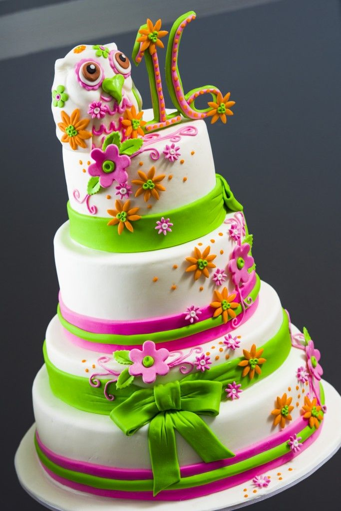 This Colorful Cake Was Made For A Sweet 16 But Any Little