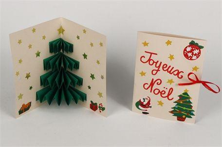 "Carte pop up sapin de Noël : Noël : ""Idées Créa"" 10 DOIGTS : 10 Doigts"