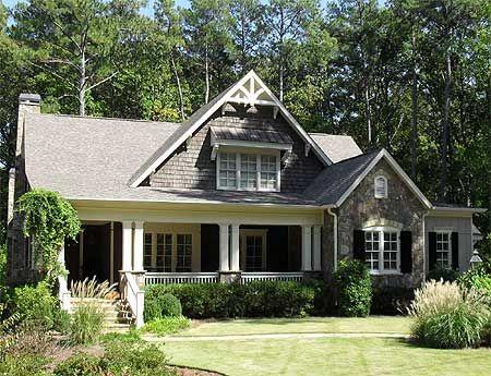 Captivating Craftsman Cottage Plan W70008CW: Elevation #1
