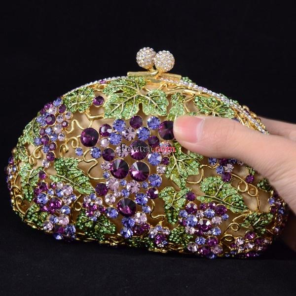 2012 New Swarovski Crystals Luxurious Evening Clutch Handbag Purse