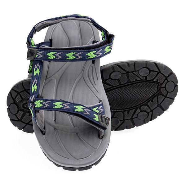 Ron Jon youth Velcro Sandal - Navy / Lime - Kids Footwear