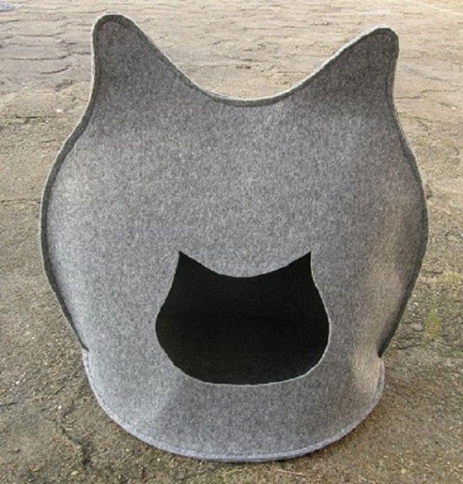 www.petside.pl Domek z filcu dla kota #kot #kotek #koteł #kotka #kicia #legiwsko #dlakota