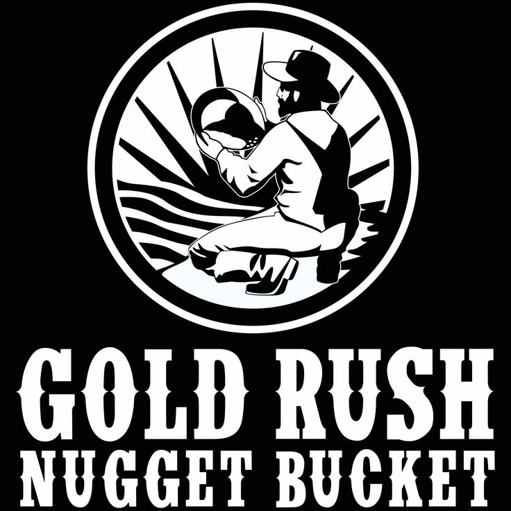 Gold rush nugget bucket new logo gold prospecting gold