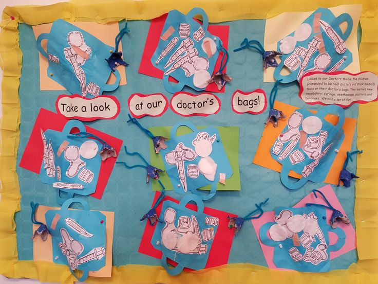 Early Years/Shiny Stars display for People Who Help Us theme @Acorns Nursery Bucharest