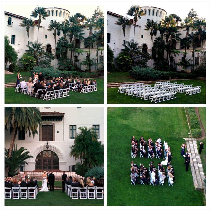Santa Barbara Courthouse wedding ceremony. #weddingssantabarbara #sbofficiant