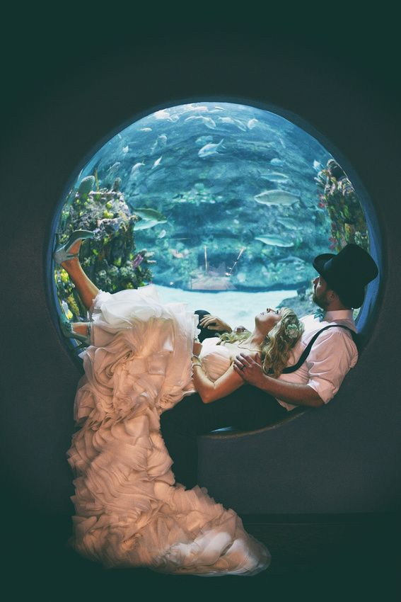 "Talk about something blue! Such a romantic shot at our ""bubble window"" by Thirteenth Moon Photography."
