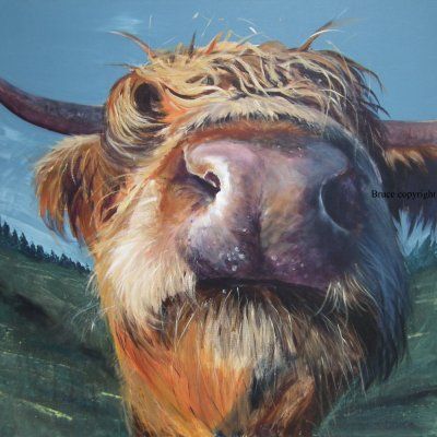 The Bruce Gallery Isle of Mull UK - Cow paintings. Glen