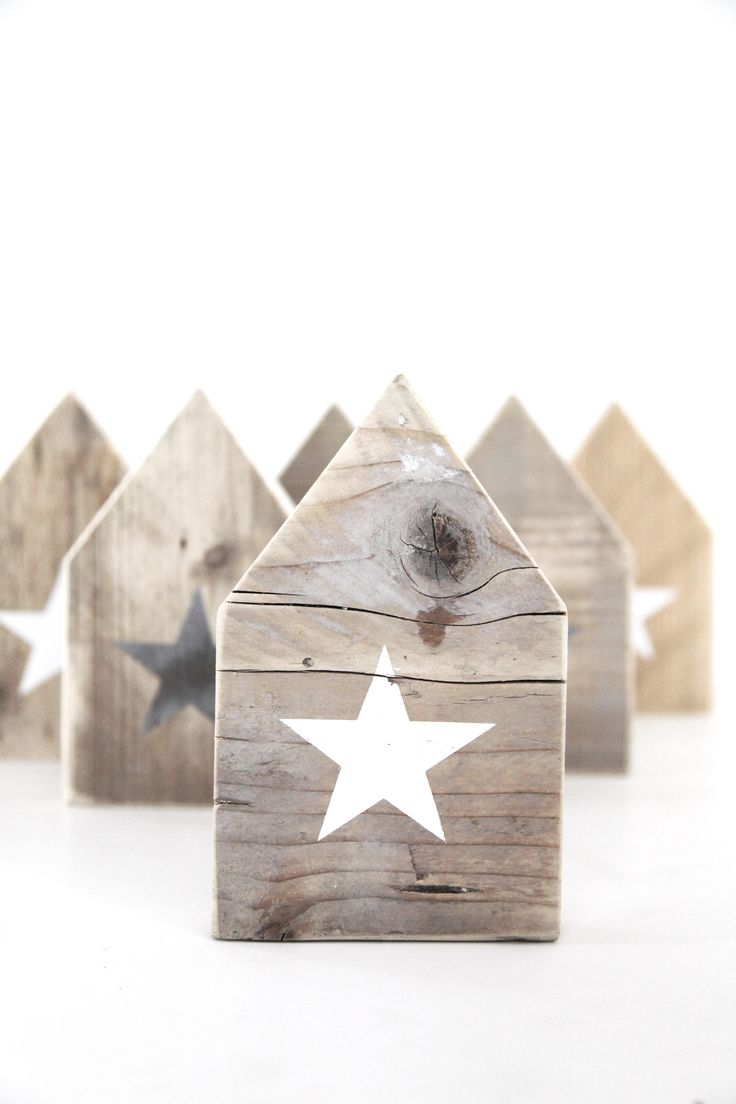 DIY: wooden houses ❥