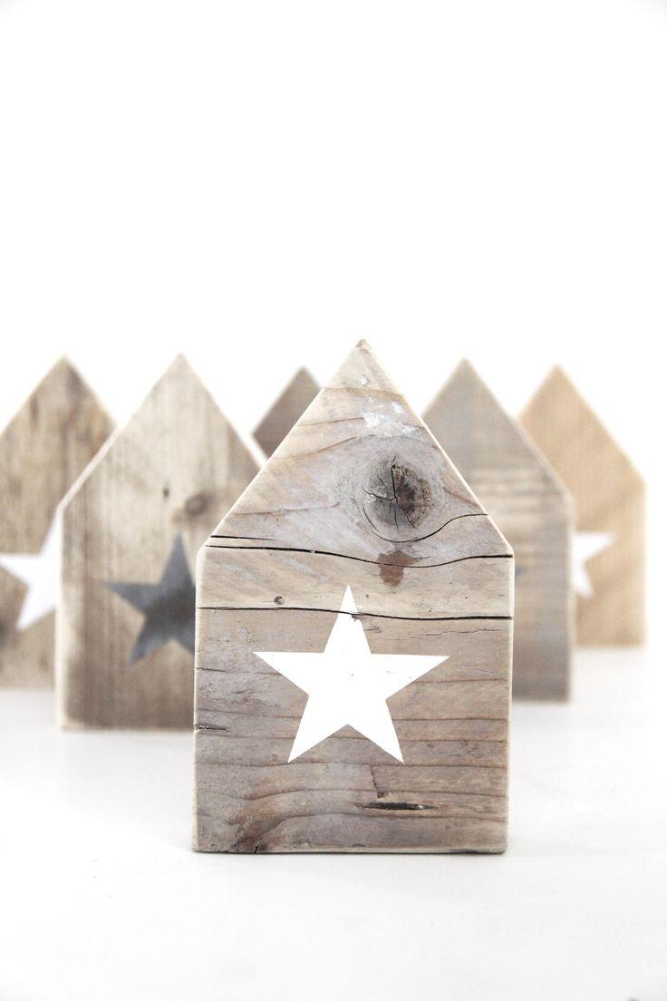 DIY: Holz Häuser mit Stern ❥