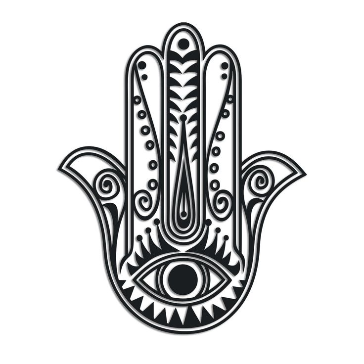 Hand With An Eye Symbol
