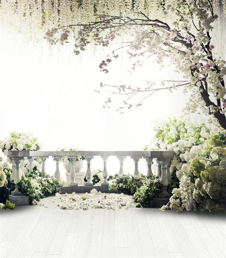 Wedding Background Quality Vinyl Cloth Directly From China Photo Backdrop Suppliers White Green Gr Terrace Flowers Tree