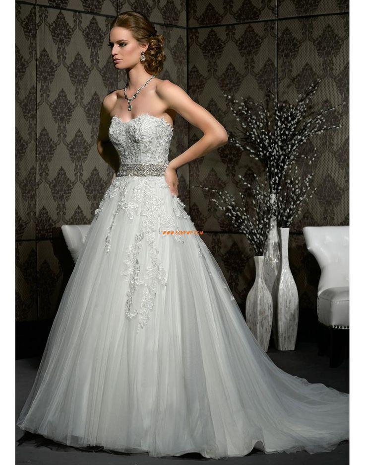 Krajkový vzhled Tyl Bez rukávů Svatební šaty La Sposa