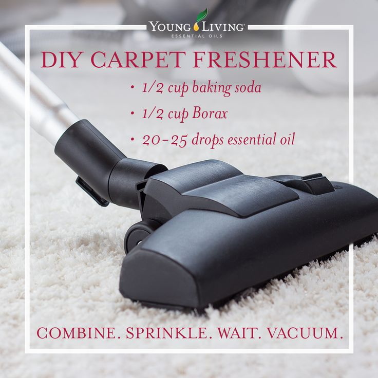 DIY Carpet Freshener with essential oils.