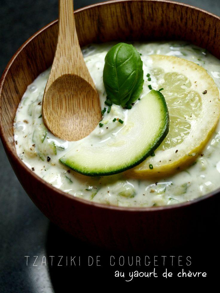 Tzatziki de courgettes au yaourt de chèvre