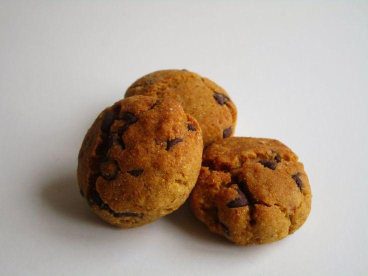 Corn flour and chocolat -gluten free- biscuits   Biscottini di mais al cioccolato