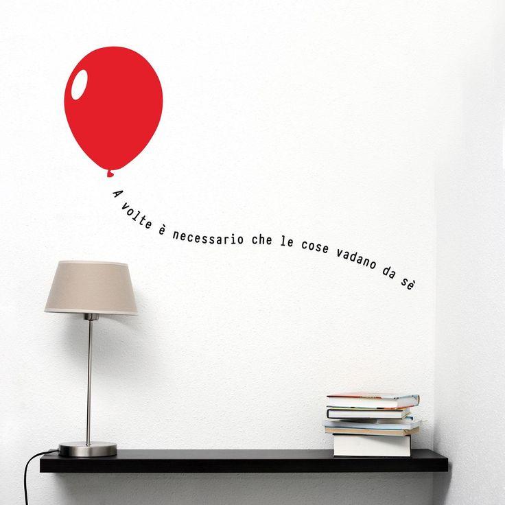 Adesivi da parete A volte è necessario che le cose vadano da sè Baloon Wall Sticker - Adesivo da Muro