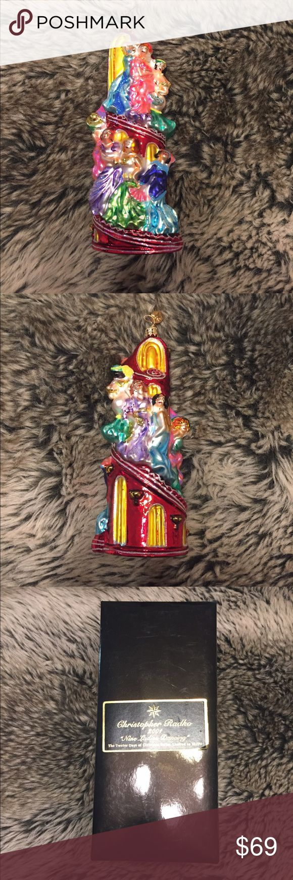 🎄Christopher Radko Ornament 9 Ladies Dancing 💃🏽 🎅🏼🤶🏼 Limited Edition Christmas Ornament. Excellent condition. I recommend using clear glue on the hangar to avoid accidents. Thank you!! 💕🎄 Christopher Radko Accessories