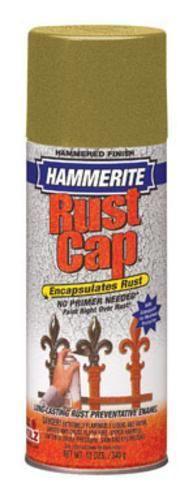 Hammerite Rust Cap 41170 Rust Preventative Spray Paint, 12 Oz, Gold