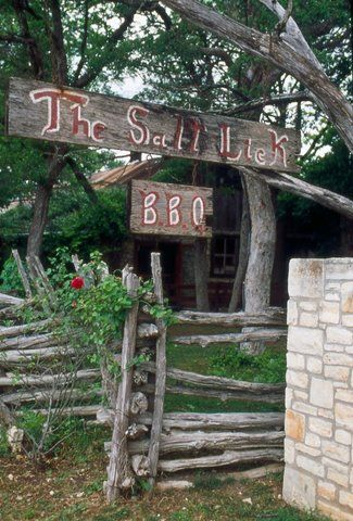 Arguably the best BBQ in Austin: The Salt Lick. There are outposts in Round Rock and at the airport, but there's nothing like the original location in Driftwood, Texas (just a 30 minute drive from downtown Austin).