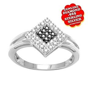 1/10Ct Brilliant Cut Genuine Diamond Accent 14K Gold Over Split Shank Ring $999 by JewelryHub on Opensky