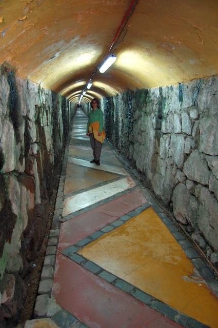 Underground entrance tunnel to the Ascensor Polanco, Valparaiso, Chile