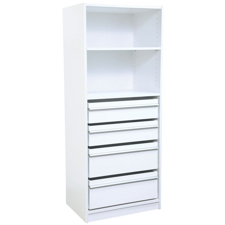 Multistore 1 Shelf / 2 Standard & 2 Jumbo Drawer Wardrobe Insert - Bunnings Warehouse