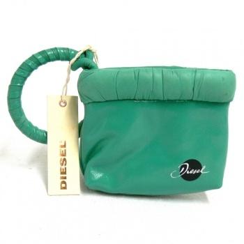 Diesel Cripty Leder Abendtaschen Kl. Handtasche Clutch grün