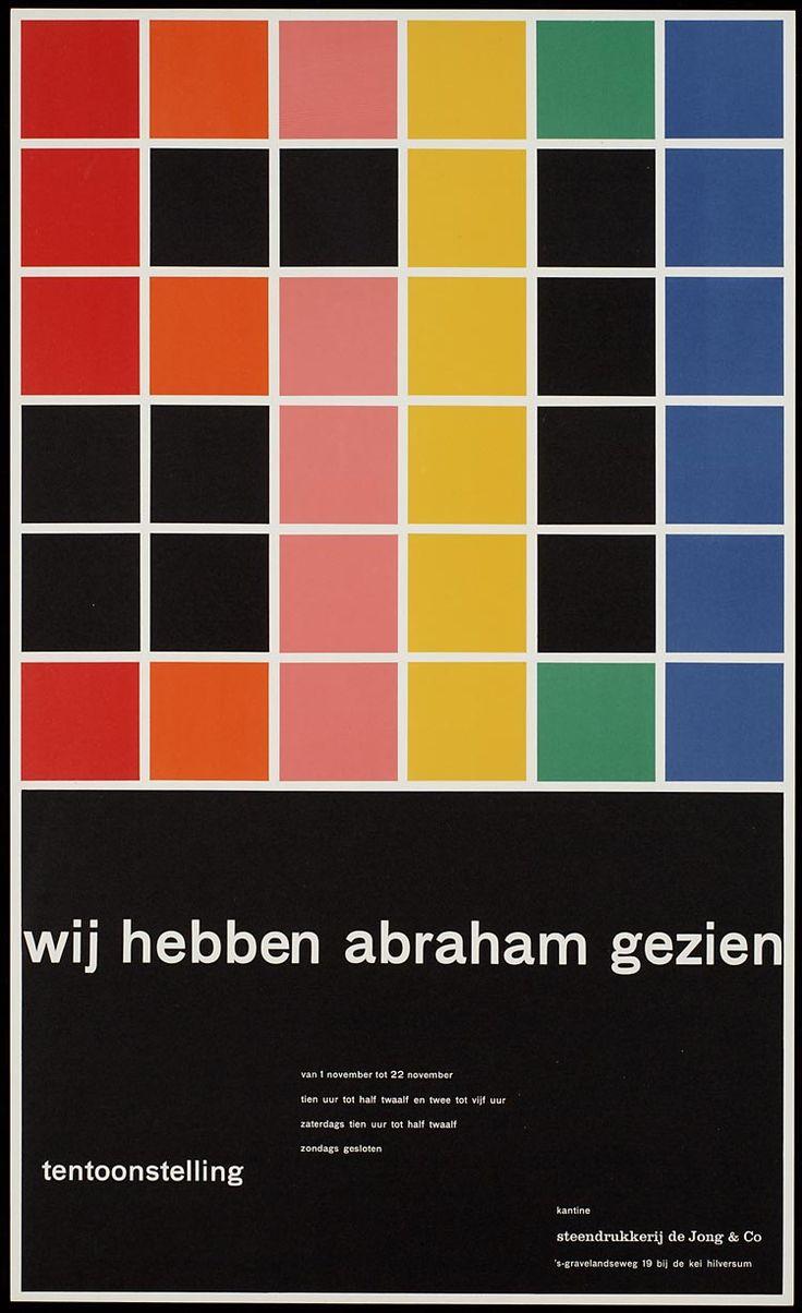 Pieter Brattinga, kantine steendrukkerij de Jong & Co Hilversum van 1 november tot 22 november wij hebben abraham gezien, 1961