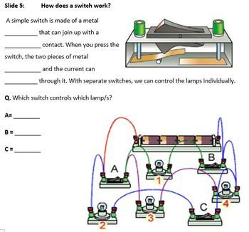 Electrical Circuits Notes, Activities and Worksheets and QUIZ! FREE PowerPoint included. (PowerPoints contain animations which may not work on Apple Computers) Topics Covered: Electrical Circuits, What is a cell/battery, Circuit Symbols, Circuit Diagrams,