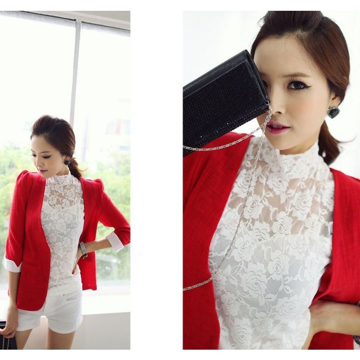 Red Blazer JK364 Model  72483 Condition  New   material - tweet cotton Length - 56cm With Shoulder Pad 250grams retail IDR250.000	reseller IDR187.500	wholesaller IDR156.250