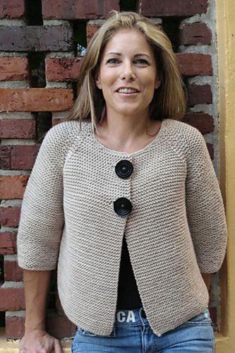 Ravelry: nhbeaglemom's cardigan, garter stitch