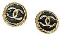 Chanel Vintage Chanel Logo earrings.